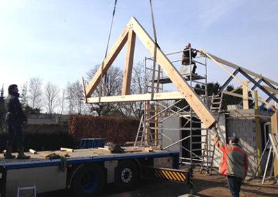 bijgebouw spanten plaatsen Mill Noord-Brabant
