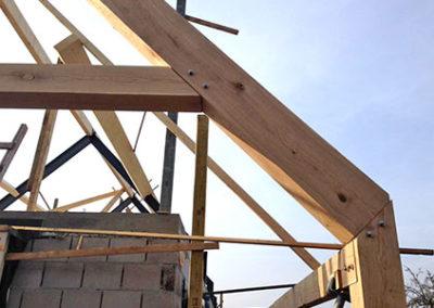 Detail dakconstructie bijgebouw