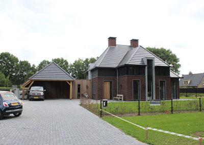 Achterzijde van nieuwbouwhuis in Mill Noord-Brabant