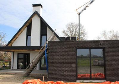 nieuwbouw achterzijde Graspeel Zeeland