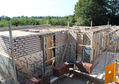 Metselwerk nieuwbouwhuis